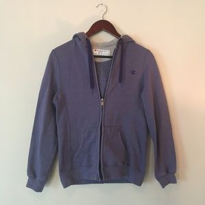 Lilac Champion Zip Up Hoodie